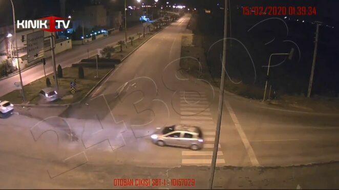 Osmaniye'deki trafik kazaları KGYS kameralarına yansıdı