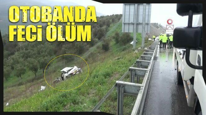 Otobanda Feci Kaza, Lüks Otomobil Kontrolden Çıktı, Şarampole Yuvarlandı