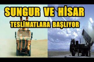 SUNGUR ve HİSAR HAVA SAVUNMA FÜZE SİSTEMLERİNİN TESLİMATINA BAŞLIYOR!!!