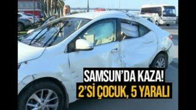 Samsun'da trafik kazası! Çok sayıda yaralı var