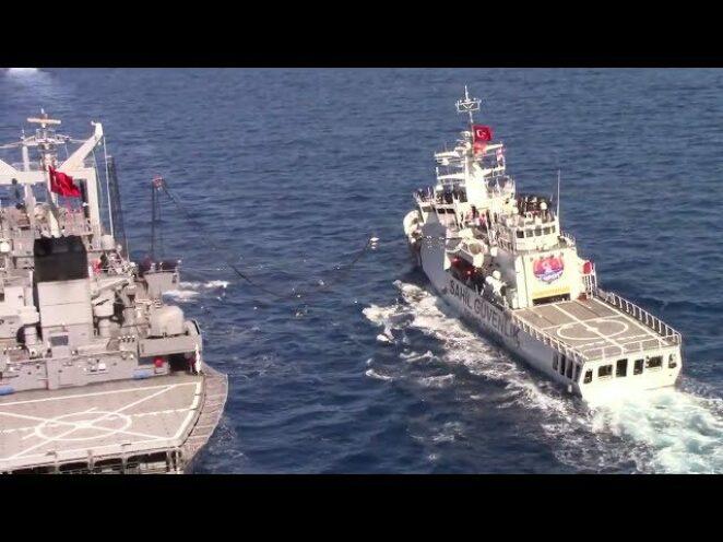 Türk Deniz Kuvvetlerinde denizde akaryakıt ikmali