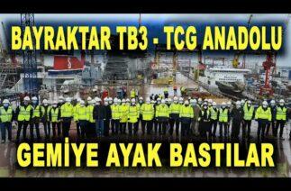 Bayraktar TB3 ekibi TCG Anadolu'da – Bayraktar TB3 UAV will be deployed on the ship – Savunma Sanayi