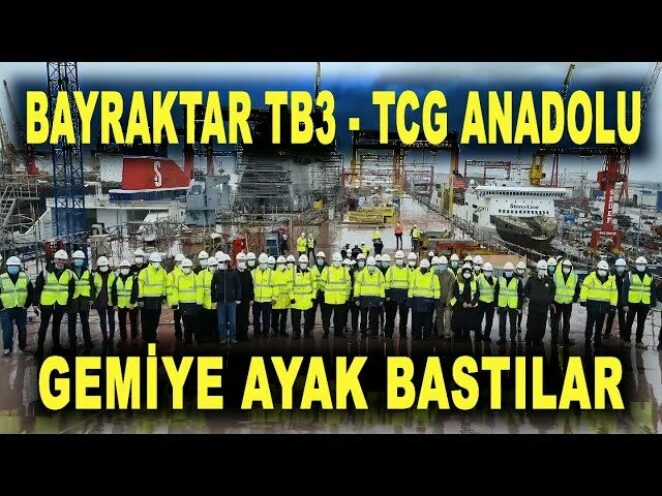 Bayraktar TB3 ekibi TCG Anadolu'da – Bayraktar TB3 UAV will be deployed on the ship – Savunma Sanayi