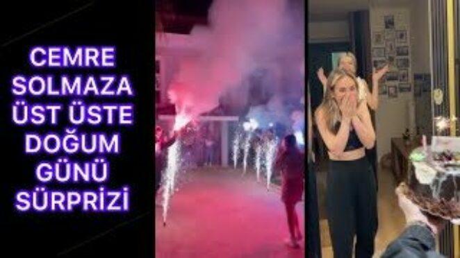 Cemre Solmaz'a Üst Üste Doğum Günü Sürprizi Csfc Tiktok