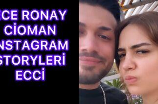 Ece Ronay & Cioman İnstagram Storyleri Ecci Erfc Cefc Tiktok