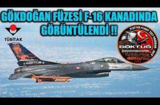 GÖKDOĞAN FÜZESİ F-16 KANADINDA GÖRÜNTÜLENDİ !!