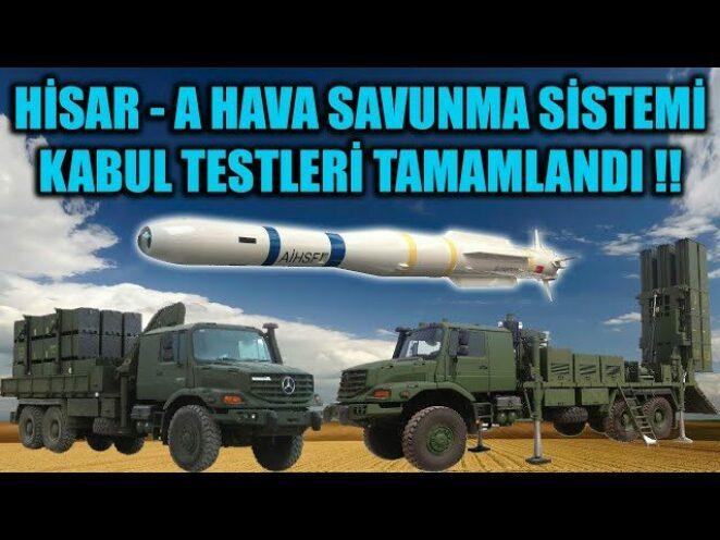 HİSAR – A HAVA SAVUNMA SİSTEMİ KABUL TESTLERİ TAMAMLANDI !!