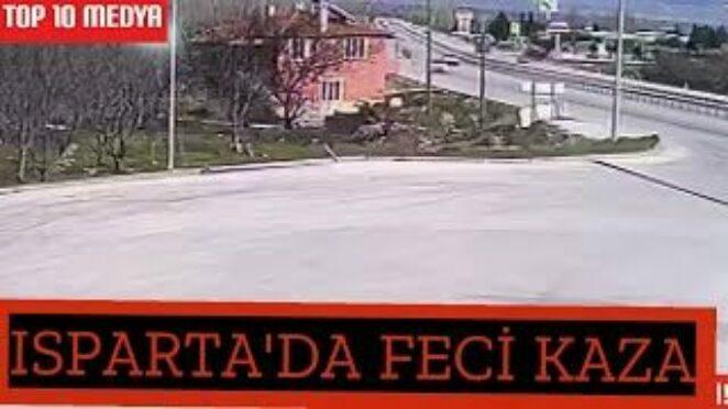 ISPARTA – Acil tıp uzmanı doktorun hayatını kaybettiği kaza güvenlik kamerasında