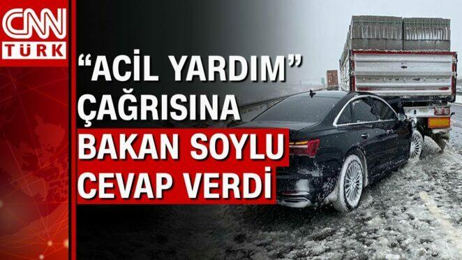 """Kaza yapan vekilin """"Acil yardım"""" çağrısına Bakan Süleyman Soylu yanıt verdi"""
