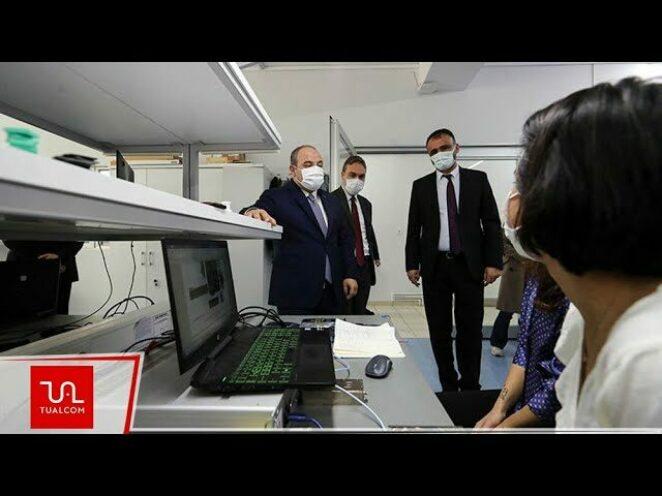 Sanayi ve Teknoloji Bakanı Mustafa Varank, TUALCOM'u ziyaret etti