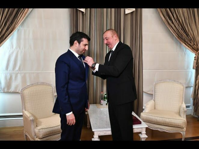 Selçuk Bayraktar'a Karabağ Nişanı verildi