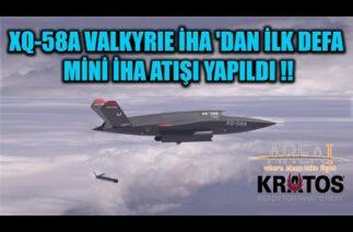 XQ-58A VALKYRIE İHA 'DAN İLK DEFA MİNİ İHA ATIŞI YAPILDI !!