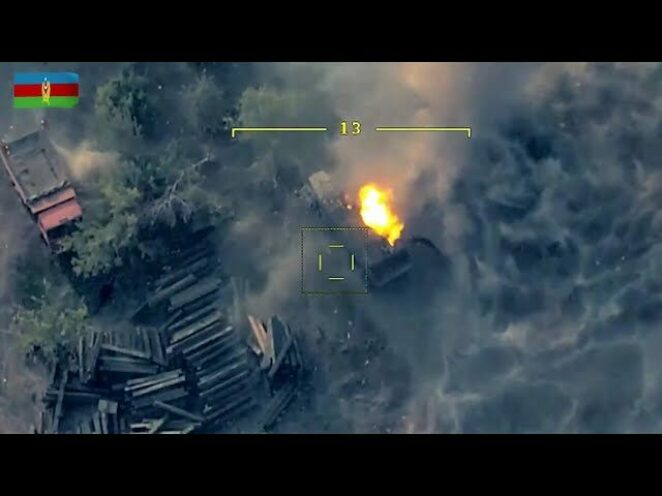 Azerbaycan Silahlı Kuvvetlerinin Karabağ Savaşı'nda imha ettiği Ermeni askeri araçları