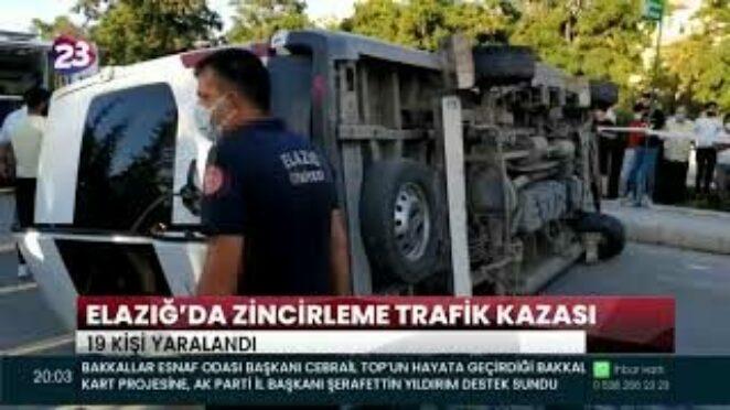ELAZIĞ'DA ZİNCİRLEME TRAFİK KAZASI