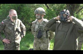 Steadfast Defender 21 Tatbikatı'na katılan Türk askerî birlikleri KBRN eğitimleri icra etti.