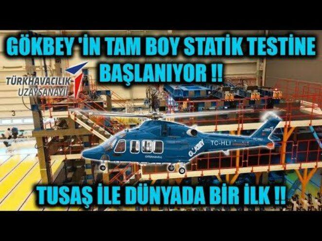 TUSAŞ 'TAN DÜNYADA BİR İLK !! GÖKBEY 'İN TAM BOY STATİK TESTİNE BAŞLANIYOR !!