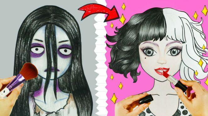 Cruella de Vil TIKTOK Makeup Challenge | Beauty Hacks | WOA Barbie Story