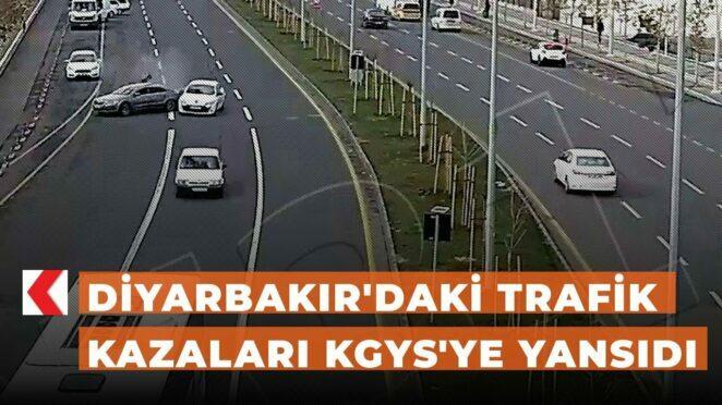 Diyarbakır'daki trafik kazaları KGYS'ye yansıdı