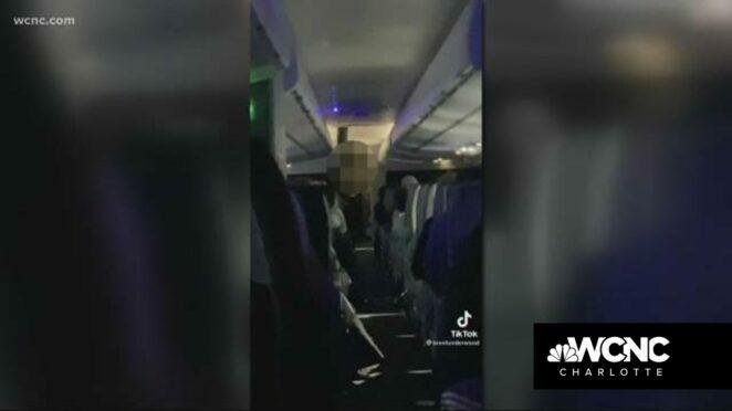 Flight attendant seen shutting down unruly passengers on TikTok video
