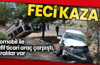 Gaziantep'te Trafik Kazası, Otomobil ile Hafif Ticari Araç Çarpıştı: 6 Yaralı