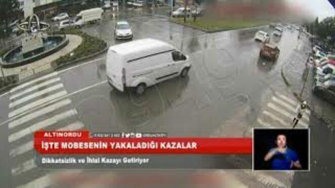 Ordu yaşanan trafik kazalarının mobese görüntüleri I Ordu Altaş TV – 11 Mayıs 2021