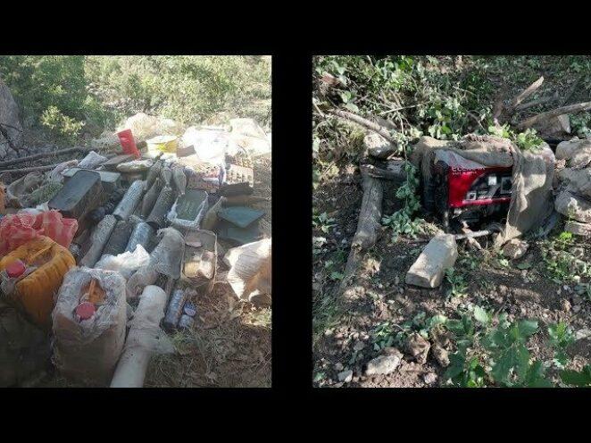 TSK, Pençe-Yıldırım Operasyonu kapsamında bir mağarada çok sayıda silah ve mühimmat ele geçirdi