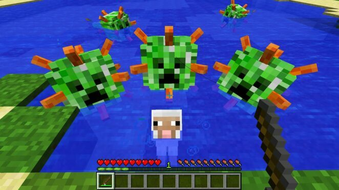 CURSED MINECRAFT BUT IT'S UNLUCKY LUCKY FUNNY MOMENTS PART 12