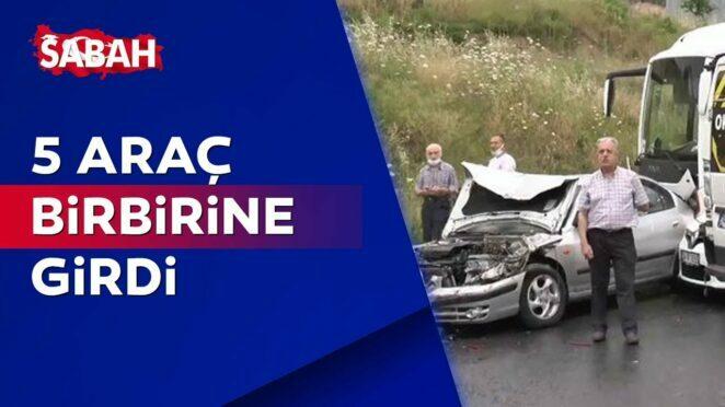 İstanbul Maltepe'de 5 aracın karıştığı zincirleme trafik kazası! 2 yaralı