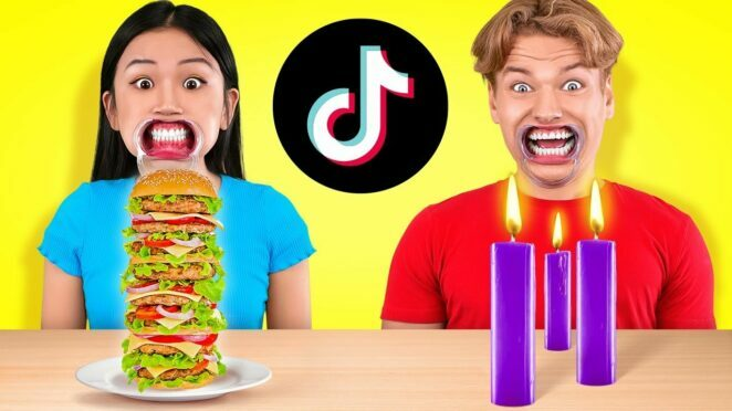 LUCKY VS UNLUCKY! 100+ TIKTOK CHALLENGES, 100 Layers Dares and FOOD Pranks by 123 GO! CHALLENGE