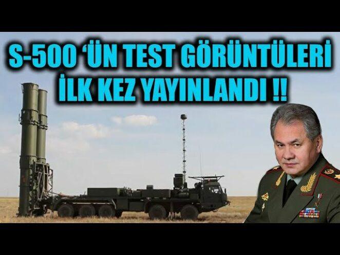 S-500 SİSTEMİNİN TEST GÖRÜNTÜLERİ İLK KEZ YAYINLANDI !!