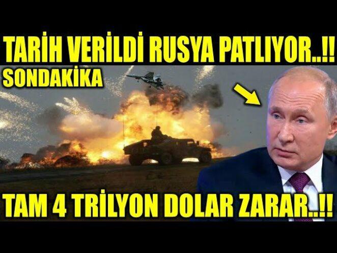 TARİH VERİLDİ RUSYA PATLIYOR..!! TAM 4 TRİLYON DOLAR ZARAR..!!