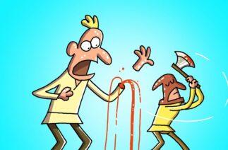 The THIEF   Cartoon Box 246 by FRAME ORDER   Funny Cartoons