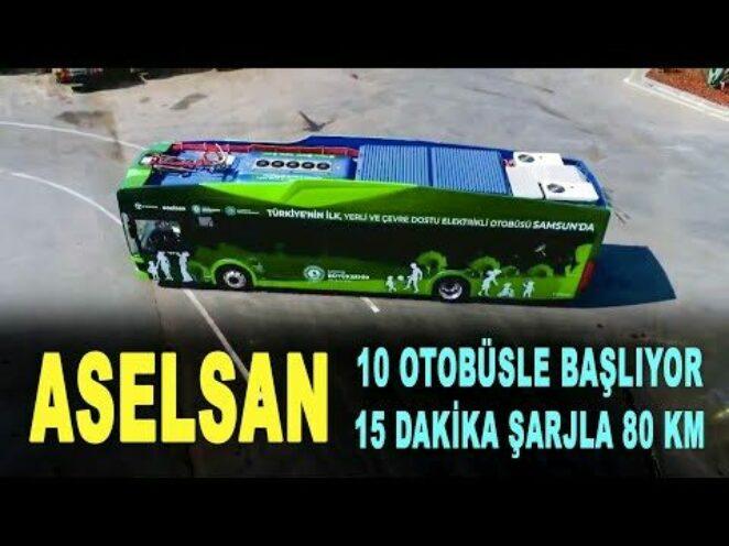 Yerli elektrikli otobüs 15 dakikada şarj olacak – ASELSAN – TEMSA – Savunma Sanayi – ASELS