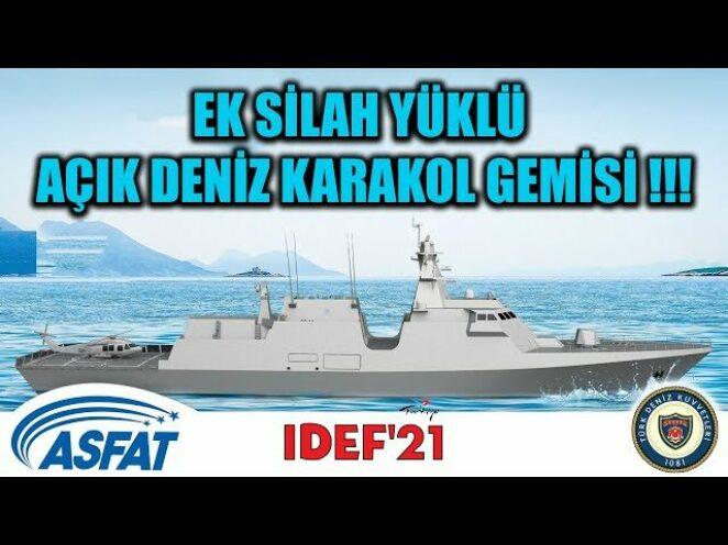 EK SİLAH YÜKLÜ AÇIK DENİZ KARAKOL GEMİSİ !!!
