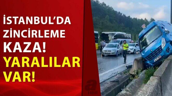 İstanbul'da TEM bağlantı yolunda zincirleme trafik kazası! 5 kişi yaralandı…