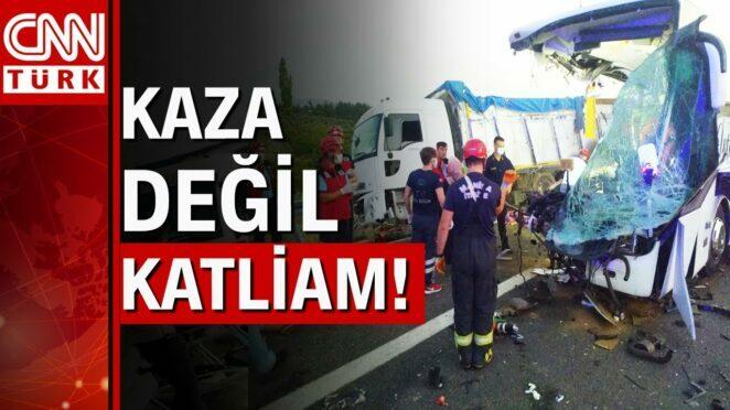 Manisa'da TIR otobüse çarptı! Çok sayıda ölü ve yaralı var