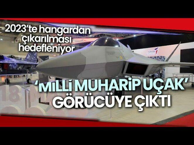 'Milli Muharip Uçak' 15. Savunma Sanayii Fuarı'nda Görücüye Çıktı