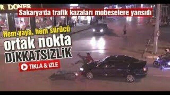 Sakarya'da trafik kazaları mobeselere yansıdı