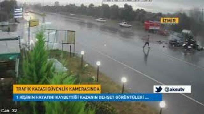 Trafik Kazası Güvenlik Kamerası