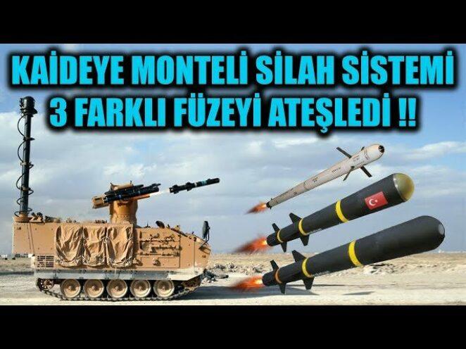 KAİDEYE MONTELİ SİLAH SİSTEMİ 3 FARKLI FÜZEYİ ATEŞLEDİ !!
