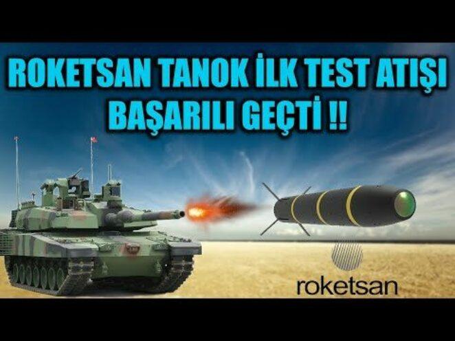 ROKETSAN TANOK İLK TEST ATIŞI BAŞARILI GEÇTİ !!
