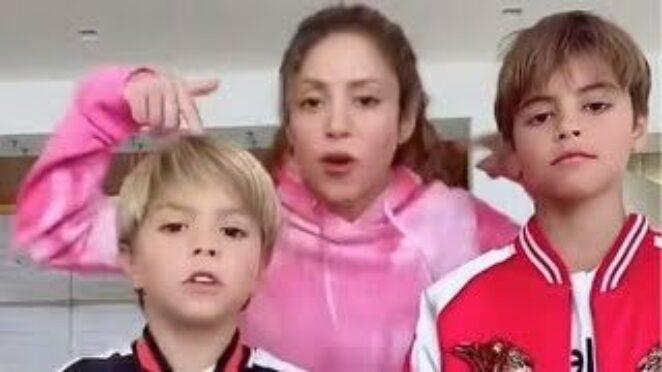 Shakira and Her Sons TikTok DANCE to J Balvin