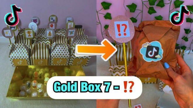 TikTok Mystery GOLD Boxes – Box 7!⁉️ *ASMR* #Shorts
