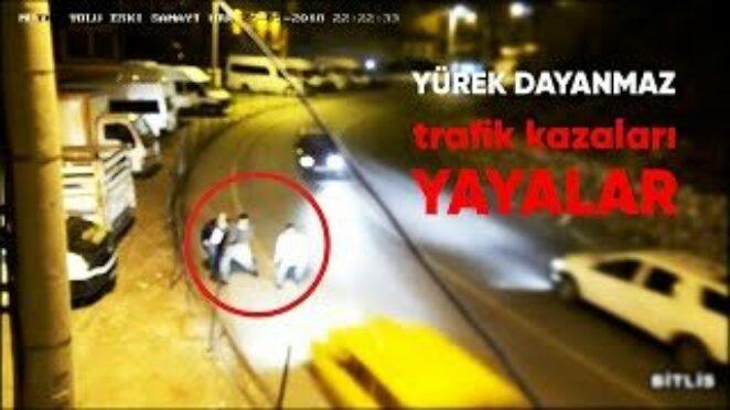 Yayaların Karıştığı Yürek Hoplatan Trafik Kazaları