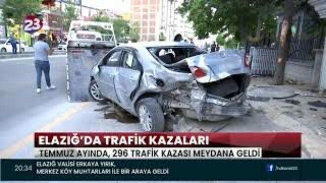 ELAZIĞ'DA TRAFİK KAZALARI