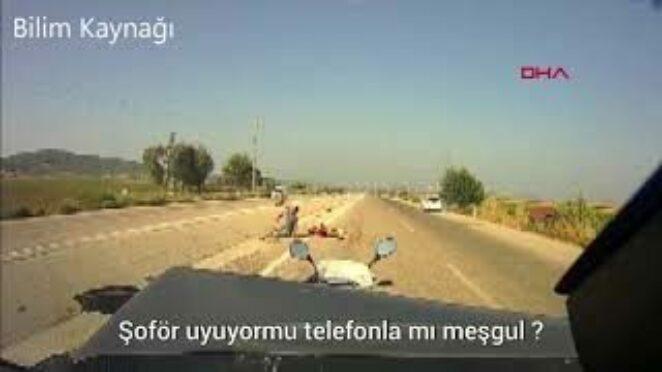 FECİ KAZA ARAÇ KAMERASINA YANSIDI MOBESE TRAFİK KAZALARI