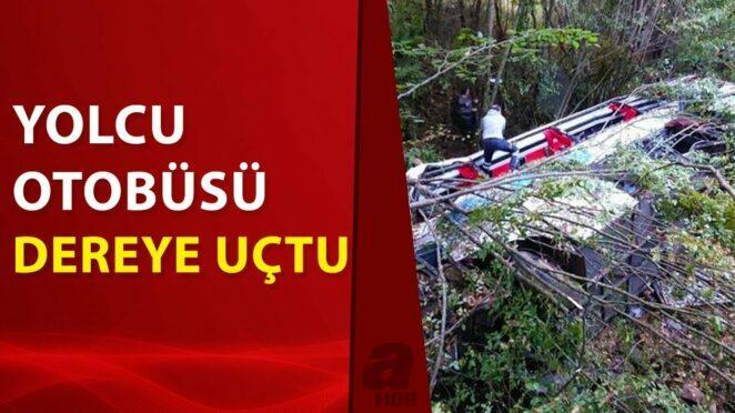 Samsun'da yolcu otobüsü kaza yaptı! Ölü ve yaralılar var